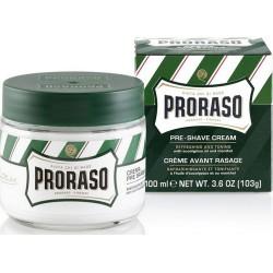 photo de Crème avant-rasage PRORASO Vert, Eucalyptus et Menthe, 100ml
