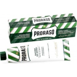 photo de Crème à Raser PRORASO verte tube de 150 ml