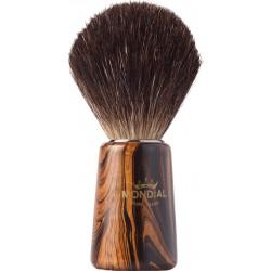 photo de Blaireau WOOD Pure Badger pur poil noir, Taille 12 manche en bois veiné MONDIAL 1908