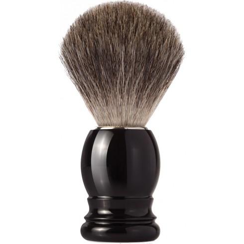 photo de Blaireau Best Badger pur poil gris, Taille 12 manche noir (2-N/L-STK) MONDIAL 1908
