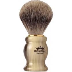 photo de Blaireau TUDOR Best Badger pur poil gris Taille 10 manche ivoire veiné MONDIAL 1908