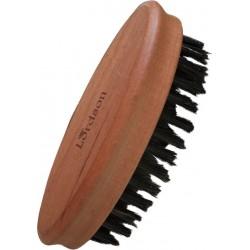 photo de Brosse Barbe&Moustache Ovale 5 rangs de poil de sanglier, poirier 8.3cm LORDSON
