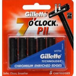 photo de Lames GILLETTE PII 7 O'CLOCK - Pack de 5 Lames