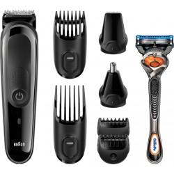 photo de Braun MGK3060 Tondeuse barbe & cheveux noir 8 en 1, nez, oreilles