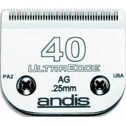 photo de Lame 0.25mm N°40 ANDIS, tête de coupe TC64076 pour tondeuse PRO AGC/AGR/BGC/MBG/SMC