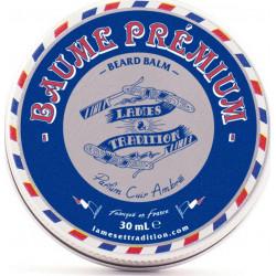 -Baume coiffage Barbe Premium, Parfum Cuir Ambré 30ml LAMES & TRADITION
