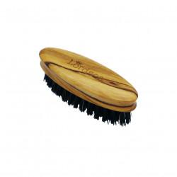Brosse Barbe&Moustache Ovale 5rangs 83X27mm Olivier Pur poil de sanglier LORDSON