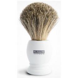 Blaireau PLISSON pur poil gris de Russie T12, Access manche blanc